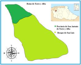 Reino de torre y Alba y provincia de san antonio