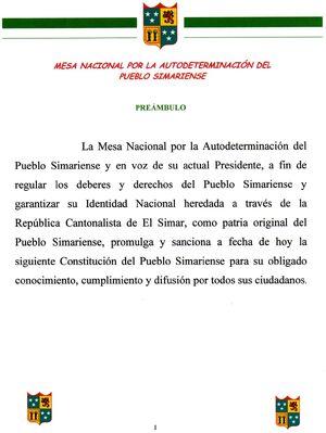 Constitución Simariense (preámbulo)