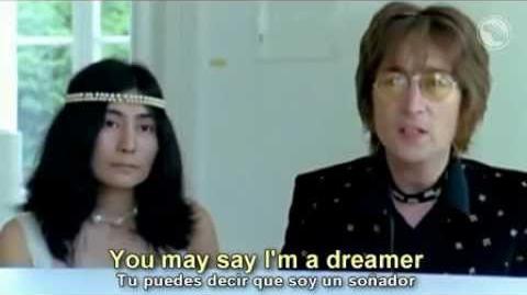 John Lennon, Imagine, subtitulada al ingles y al español