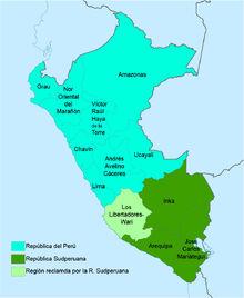 Regiones República Sudperuana (1988)