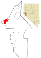 Lyon County Nevada Incorporated and Unincorporated areas Dayton Highlighted