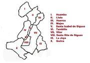 Mapa Majesiguas provincias