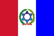 Bandera moriel gigante con estrella 2