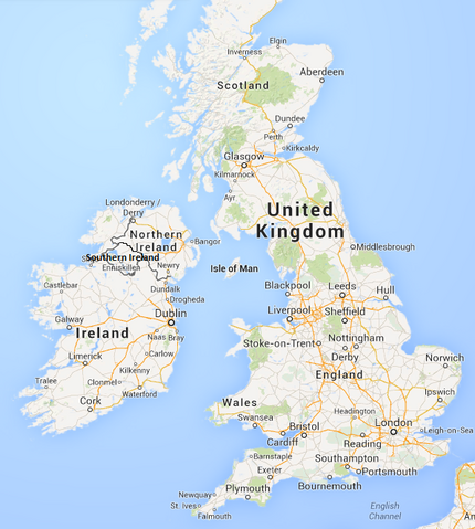 Image Political Map Of Southern Ireland UKpng MicroWiki - Ireland political map