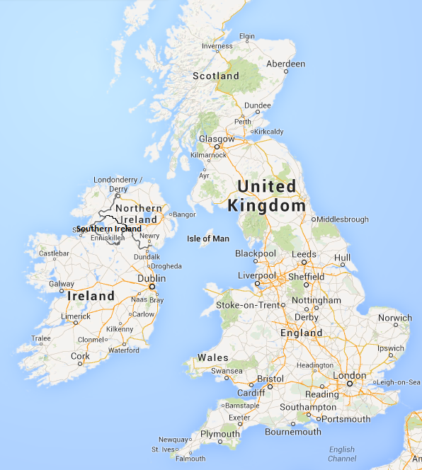 Image Political Map Of Southern Ireland UKpng MicroWiki - Map of ireland and england
