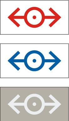 LEGO rail logos