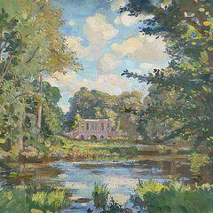 Painting of a bridge in Wilton