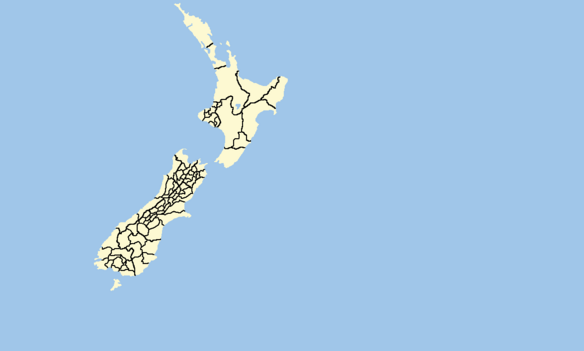 The State of Zealand Electoral Districts