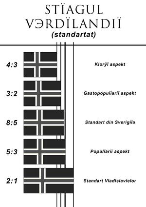 Standarts of Verd'landian flag