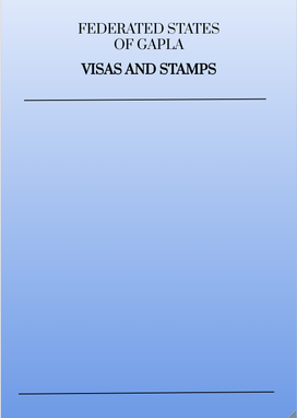 Gapla Passport Visas and Stamps Page