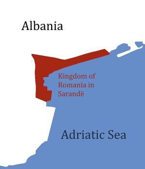 Kingdom of Romania in Sarandë Map
