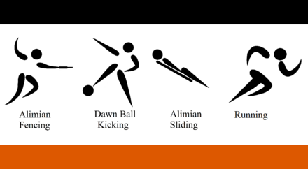 Logos of the Alimian Olympic Games