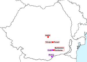 V-D Map in Romania