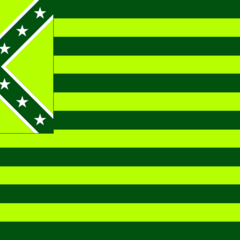 Flag of the Cockatiel Green Party (CG)
