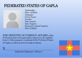 Gapla Passport ID Page