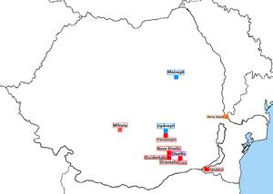 Vlasynia Map in Romania