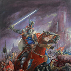 A picture of the valiant King Weston I riding into battle. In actuatily, this was nothing more then a Games Workshop picture that matched one of King Weston's I dreams about Westonina he had one day.