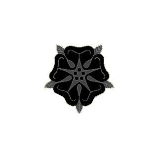 <center> Badge of the Order of the Black Rose <br /> For use by Members of the Order of the Black Rose</center>