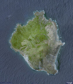 Sarigan Island topographic Airview