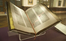 Gutenberg Bible, Lenox Copy, New York Public Library, 2009. Pic 01