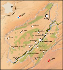 Republic of Saugeais Map