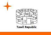 Tawil republic flag