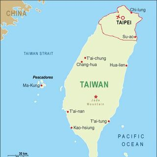 Regione Taiwan (in rosso)