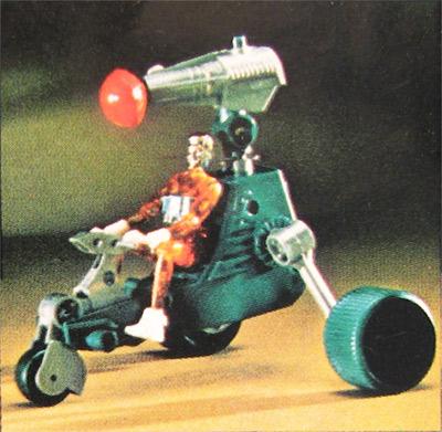 Micronauts Vehicle Part Hydra Wheel Tire Blue 1976 Mego
