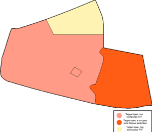 Карта Гражданской войны в Песчаной Глинке