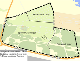 Карта Республики Песчаная Глинка
