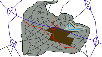 Mapa Zwierzogrodu kontur