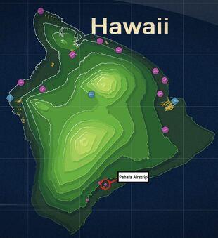 Pahala Airstrip Map