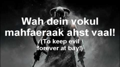 Skyrim The Song of the Dragonborn (with lyrics)