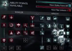 Shadow of Mordor Skill Tree
