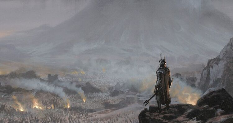 Mordor Sauron and army art