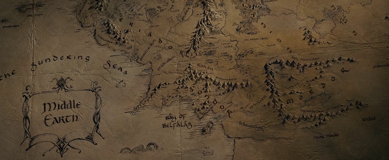 Image  Map of Middleearth in Peter Jacksons filmspng  Middle