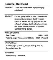 REsume HotHead