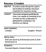 Resume Crimebot