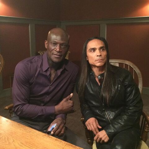 File:BTS Peter Mensah and Zahn McClarnon.jpg