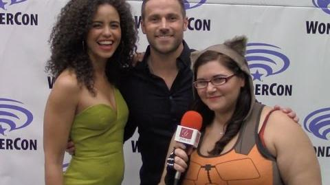 Midnight Texas - Parisa Fitz-Henley & Dylan Bruce - WonderCon 2017 yael.tv