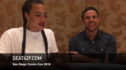 Parisa Fitz-Henley Dylan Bruce MIDNIGHT TEXAS Comic Con Interview