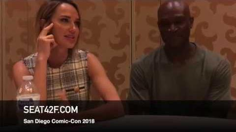 Arielle Kebbel Peter Mensah MIDNIGHT TEXAS Comic Con Interview