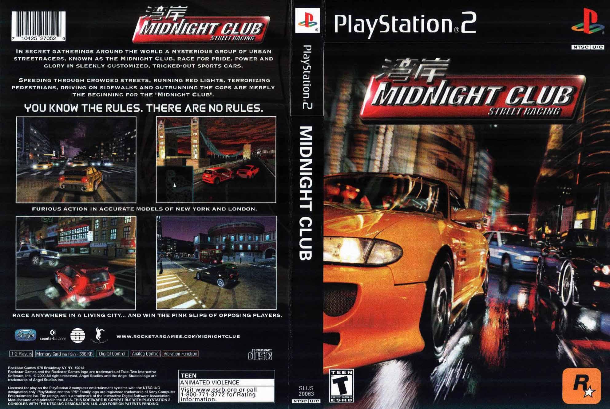 Midnight Club Street Racing Covers Midnight Club Wiki Fandom