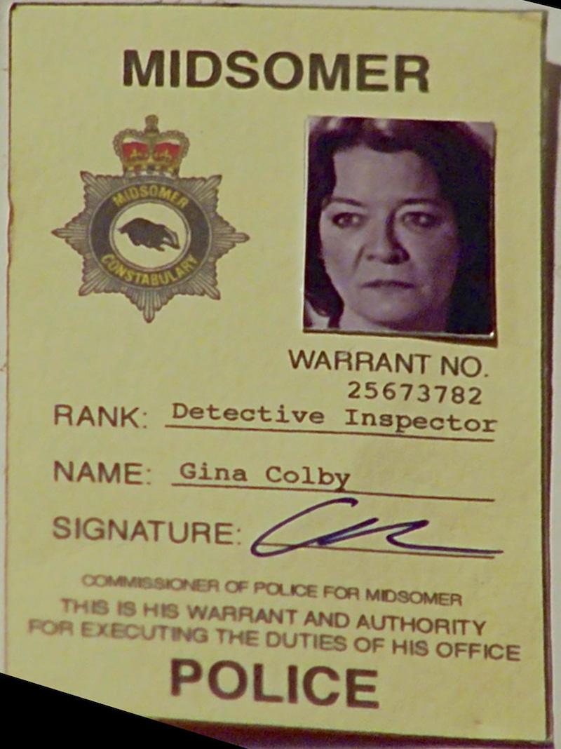 image - gina-colby-warrant-card | midsomer murders wiki | fandom