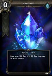 Dragon crystal card