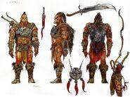 Gotai chieftain orc