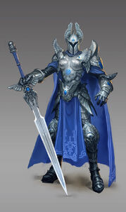 Knight female artwork Heroes VI