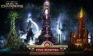 Five Towers wallpaper