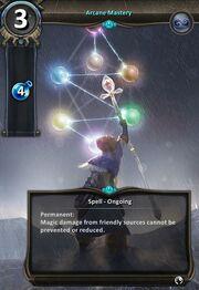Arcane mastery card