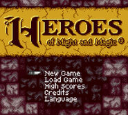 Heroes Game Boy starting screen